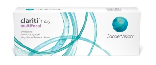 LENTES DE CONTATO CLARITI 1 DAY MULTIFOCAL - Caixa com 30 lentes (15 pares) do mesmo grau  - Lentes de Contato MAF