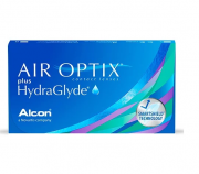 Lentes de Contato Air Optix Plus HydraGlyde (Caixa com 6 lentes (3 pares) do mesmo grau)
