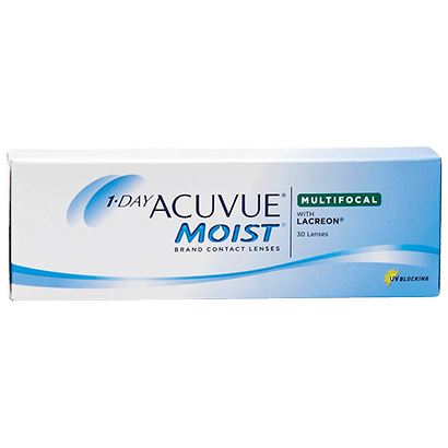 Lentes de Contato 1-Day Acuvue Moist Multifocal - Caixa com 30 lentes (15 pares) do mesmo grau  - Lentes de Contato MAF