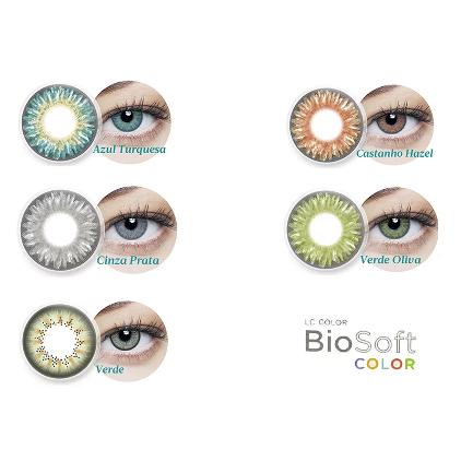 Lentes de Contato BioSoft Color com Grau  - Lentes de Contato MAF
