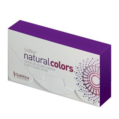 LENTES DE CONTATO SOLOTICA SOLFLEX NATURAL COLORS - USO MENSAL -   - Lentes de Contato MAF