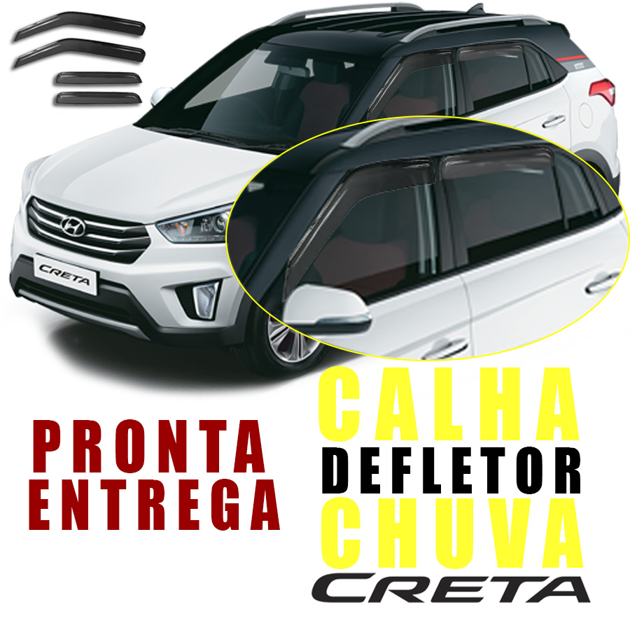 CALHA DEFLETOR DE CHUVA HYUNDAI CRETA 2017 / ...