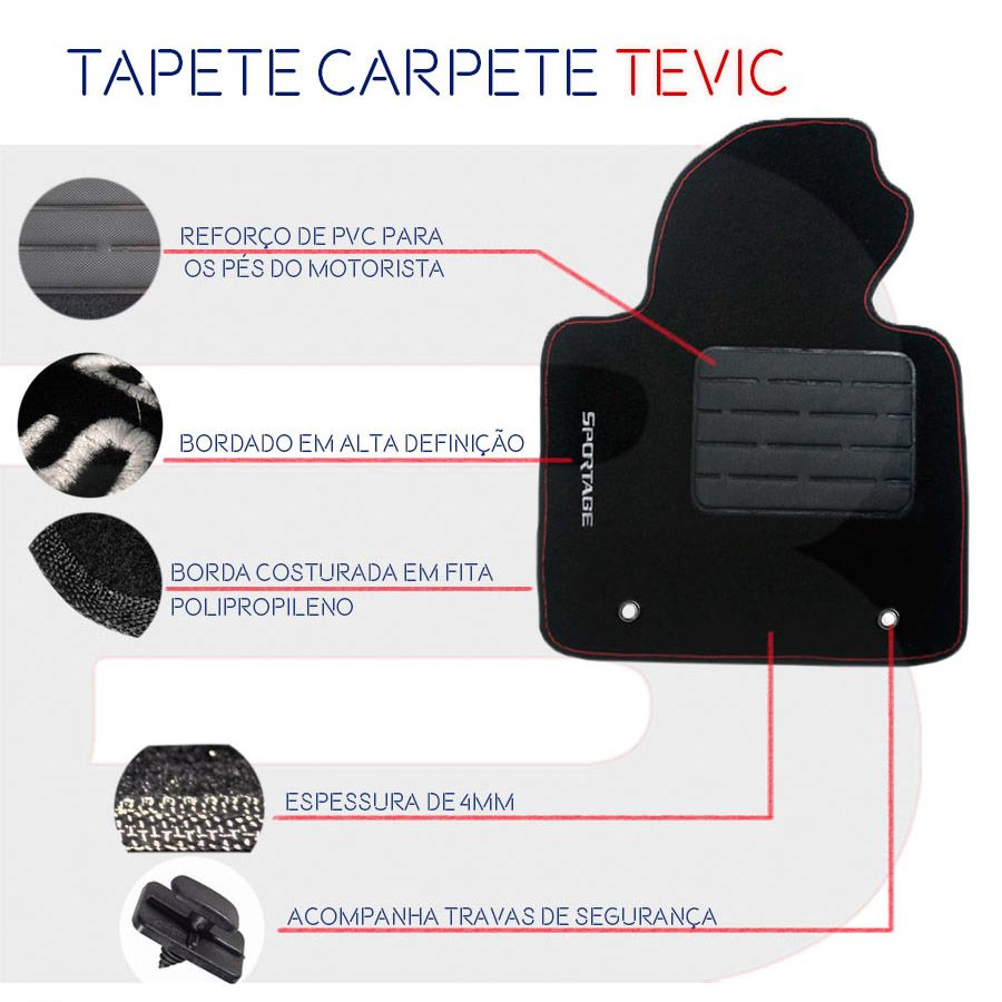 TAPETE CARPETE CONFORT CITROEN AIR CROSS