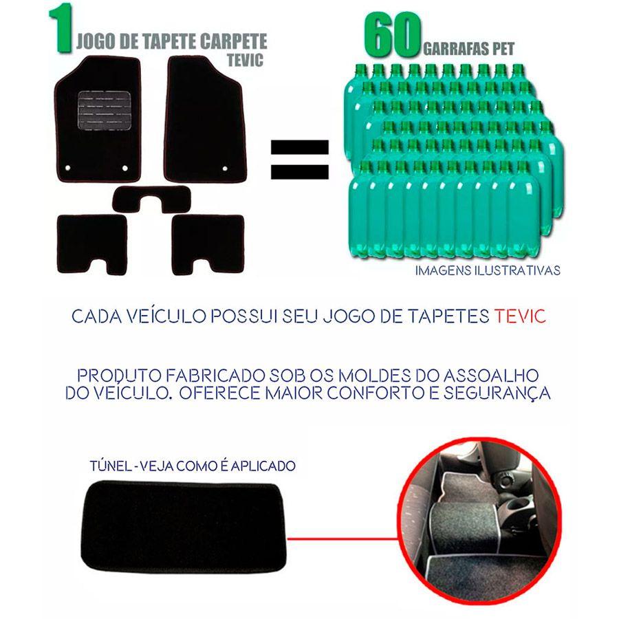 TAPETE CARPETE CONFORT TEVIC FIAT BRAVA 5 PEÇAS