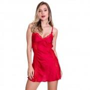 Camisola em Cetim Preta, Vermelha ou Branca com Tanga - GV606
