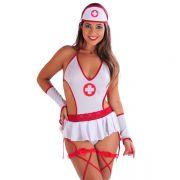 Fantasia Adulto Erótica Doutora, Médica, Enfermeira Sensual de Body - DM421