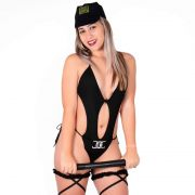 Fantasia de Policial Feminina Erótica Adulto de Body - DM365
