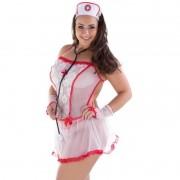 Fantasia Erótica Plus Size Enfermeira Sensual - MS1765