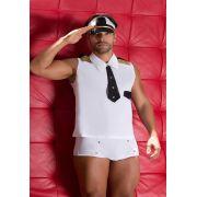 Fantasia Masculina Erótica Piloto de Avião Comandante Sedutor Adulto - GV403