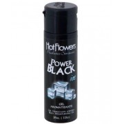 Gel Aromatizante Iced Power Black para sexo oral - HFHC337