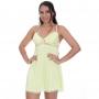 Camisola Amarela em Liganete e Renda Carol com Calcinha - MS1701