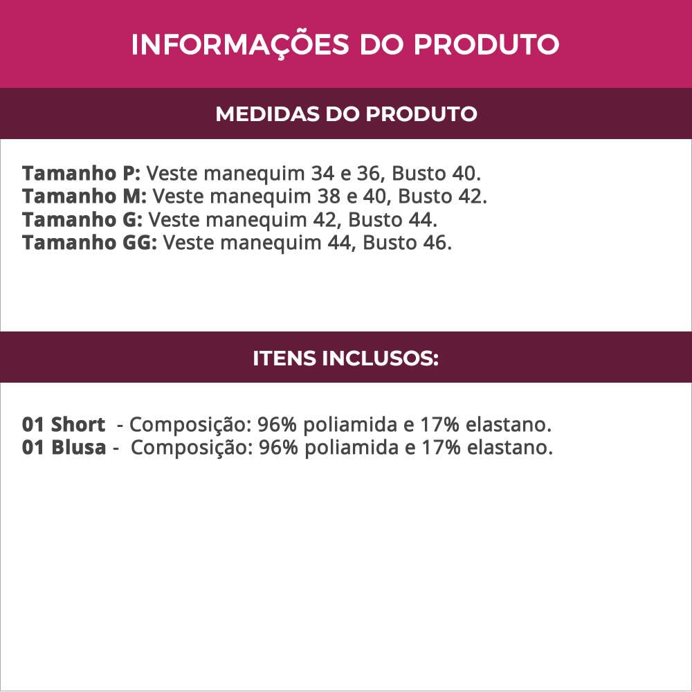 Baby Doll em Microfibra e Renda Luiza Vinho com Preto ou Rose - ES201