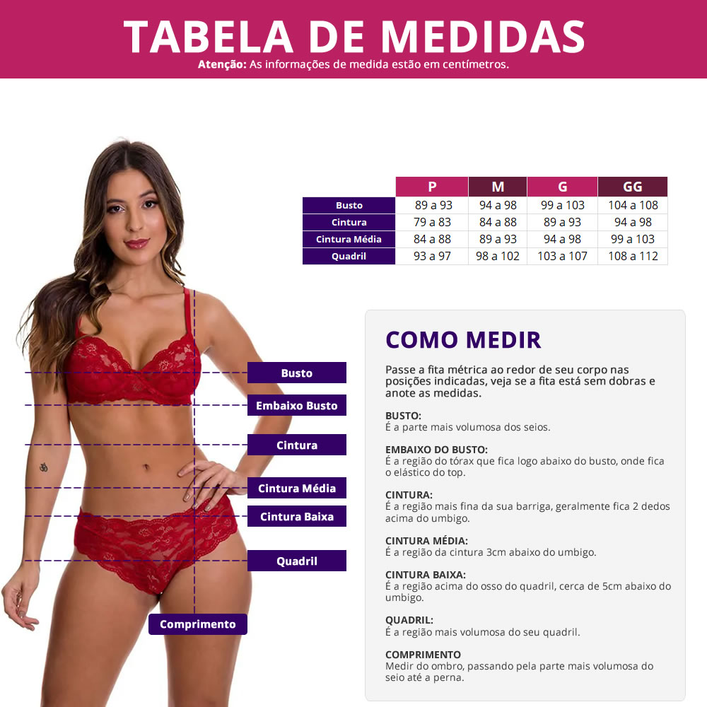 Baby Doll em Microfibra e Renda Michele - ES210