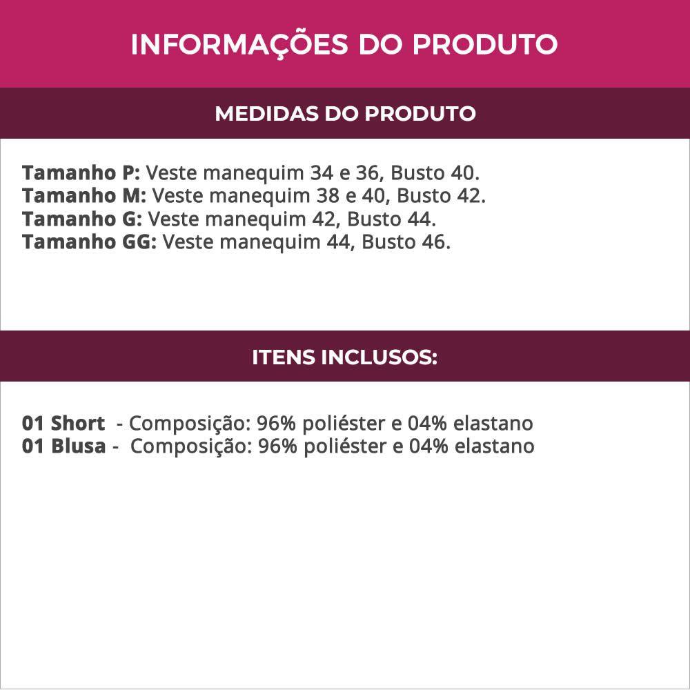 Baby Doll em Visco Lycra Cinza e Renda Luiza - ES202