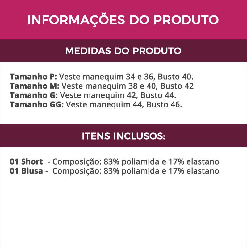 Baby Doll Lilás em Microfibra e Renda Luiza - ES201