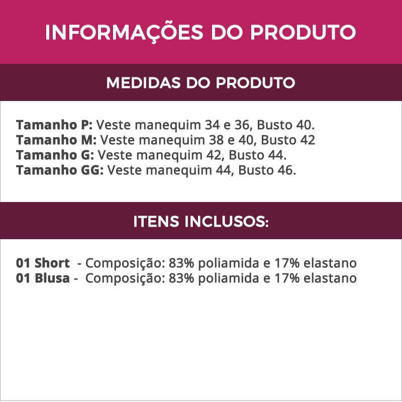 Baby Doll Preto em Microfibra e Renda Luiza - ES201