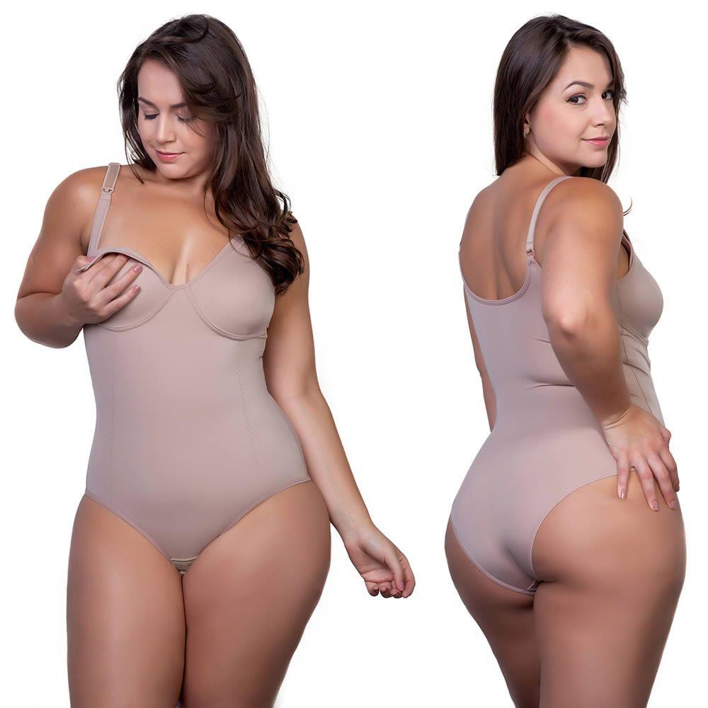 Body Amamentação Plus Size Modelador Pós Parto Sem Bojo - PL299-300