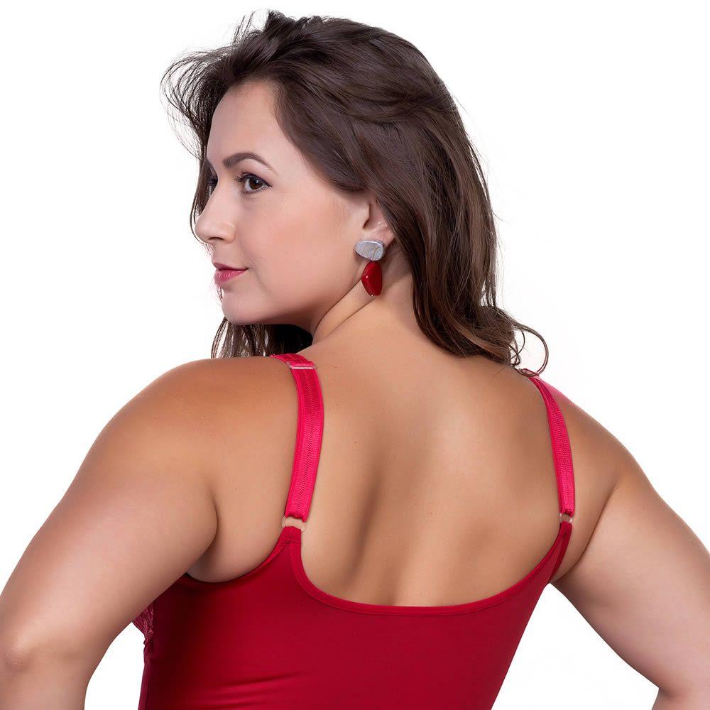Body de Renda Plus Size com Compressão Abdominal - PL291-PL292