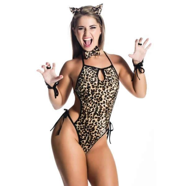 Body Frente Única Felina Selvagem Estampa de Onça - VT005
