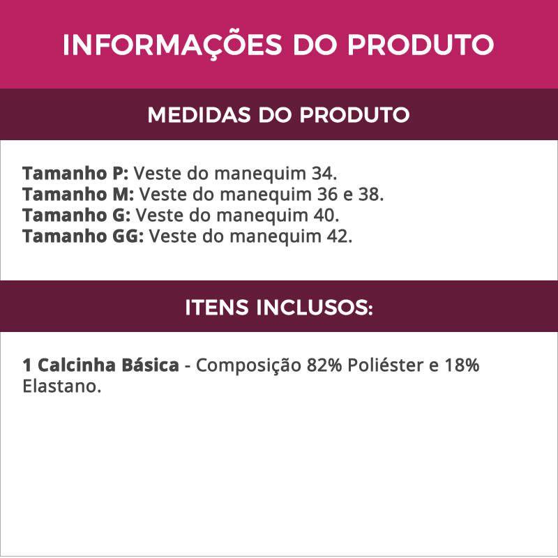 Calcinha Básica Preta de Microfibra - DR38
