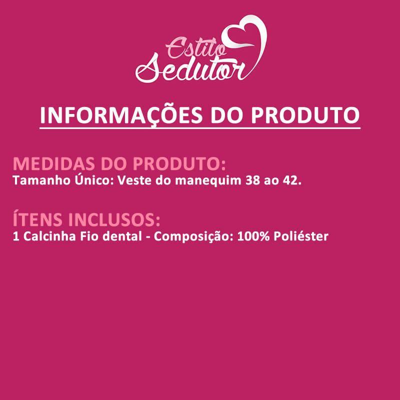 Calcinha Fio Dental Bombeira - VT632