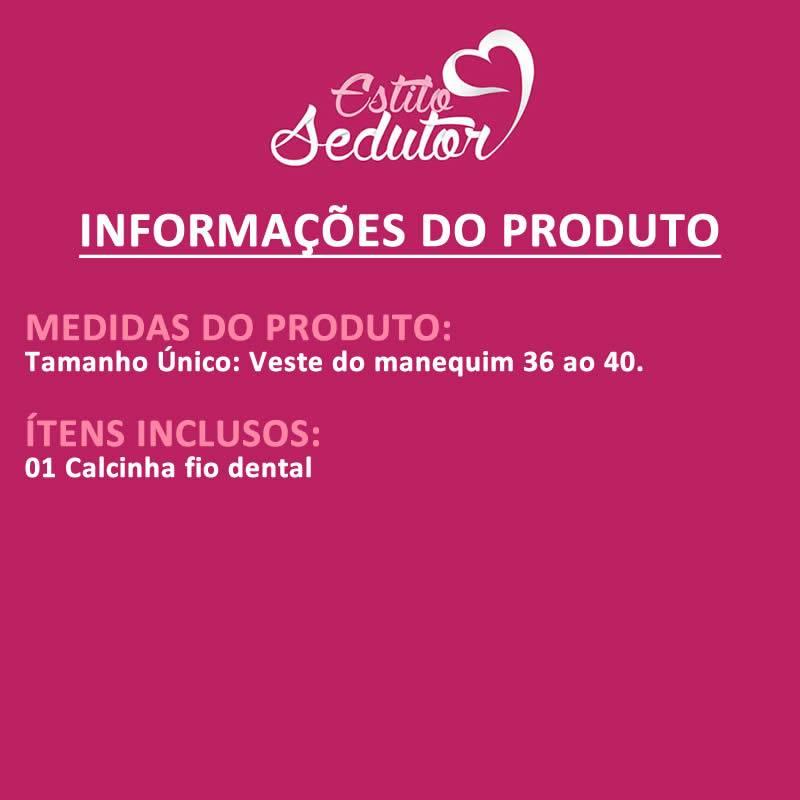 Calcinha Fio Dental Botafogo em Microfibra - MC3087