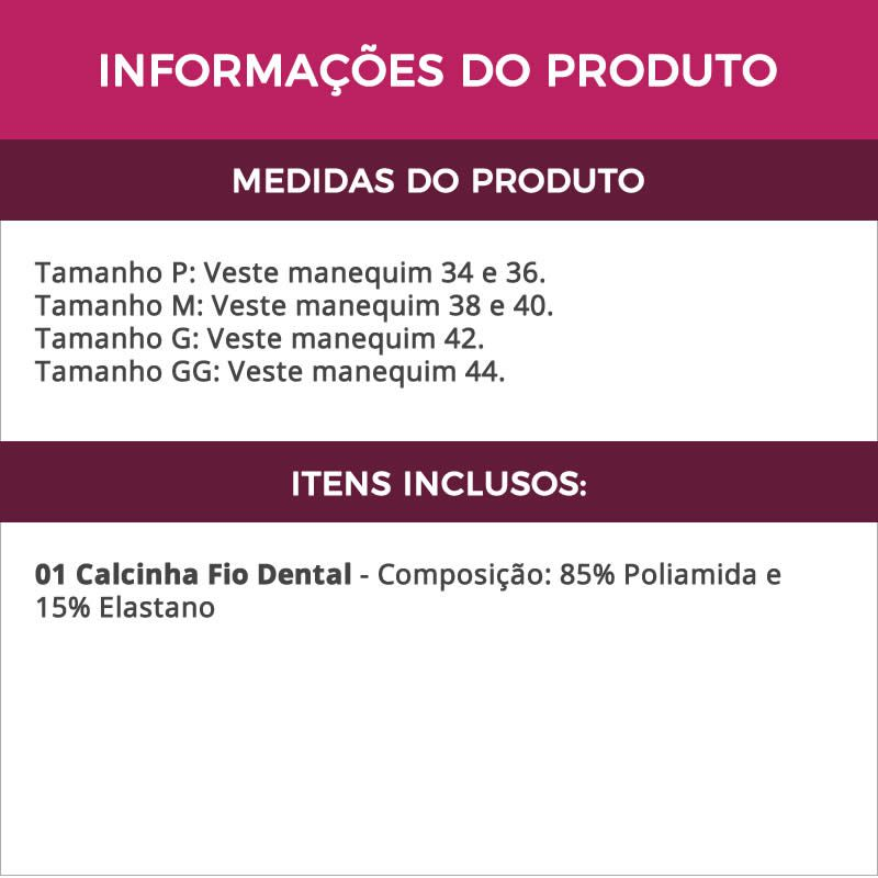 Calcinha Fio Dental Corte a Laser   ME10025