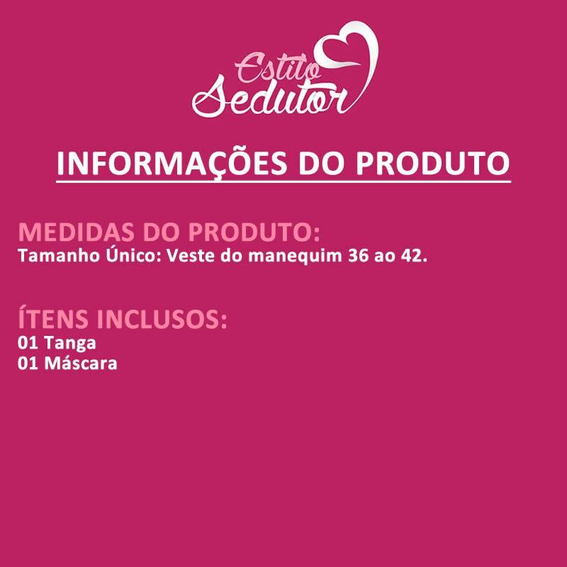 Calcinha Fio dental e Máscara Boa de Cama - DY2568