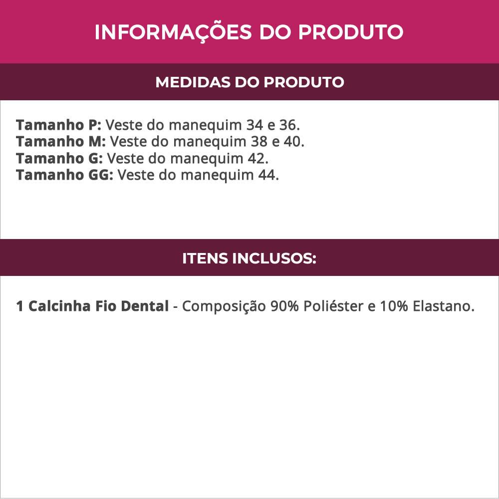Calcinha Fio Dental em Microfibra Fiorella - MF1348
