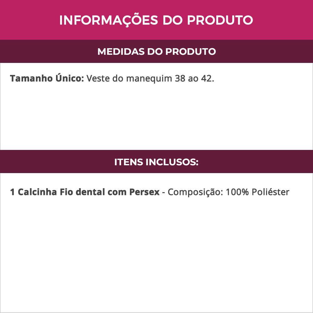 Calcinha Fio Dental Espanhola com Persex - VT505