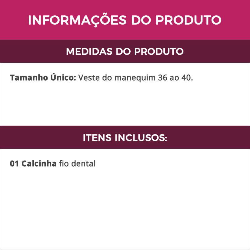 Calcinha Fio Dental Flamengo em Microfibra - MC3087