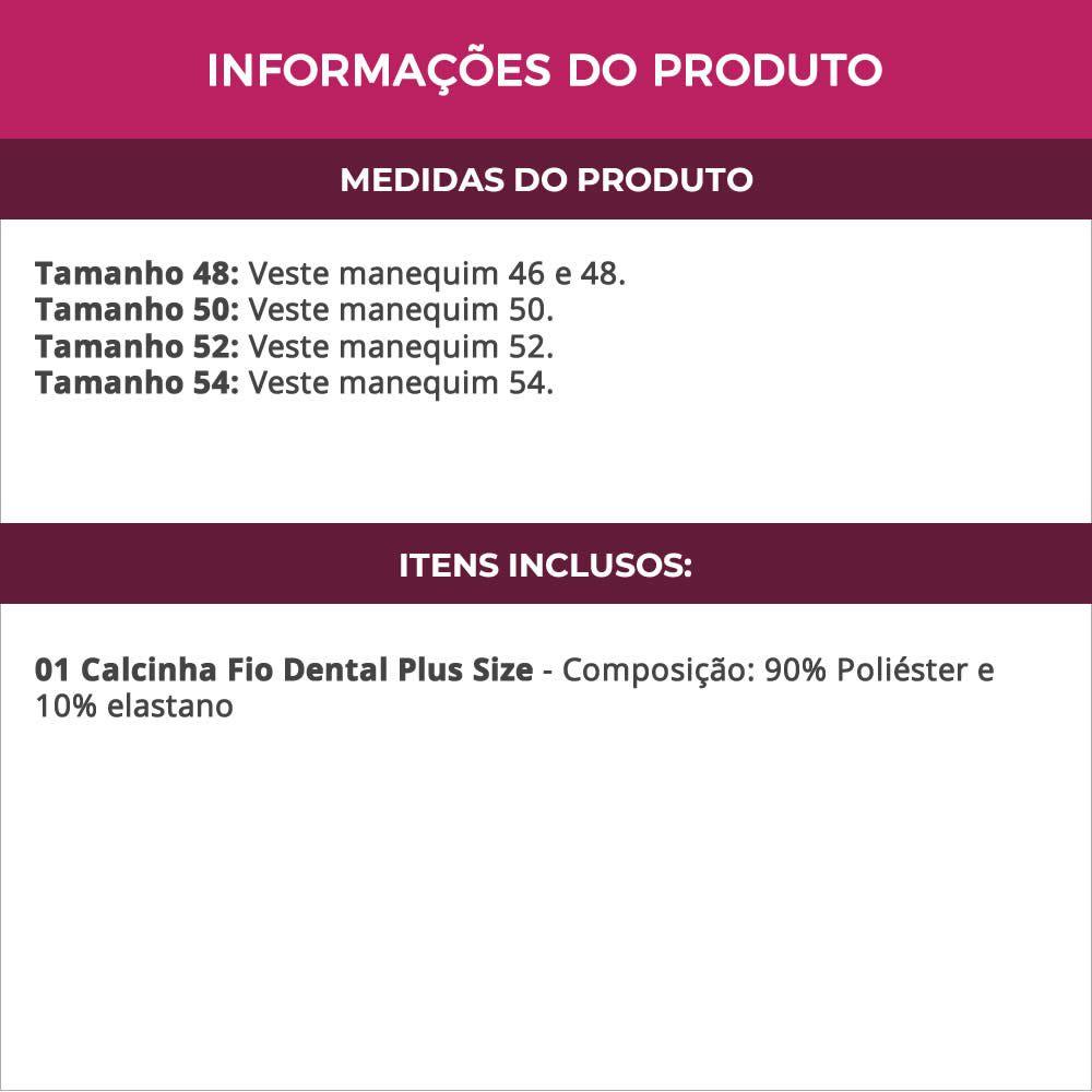 Calcinha Fio Dental Plus Size em Microfibra Rebeca - MF1430