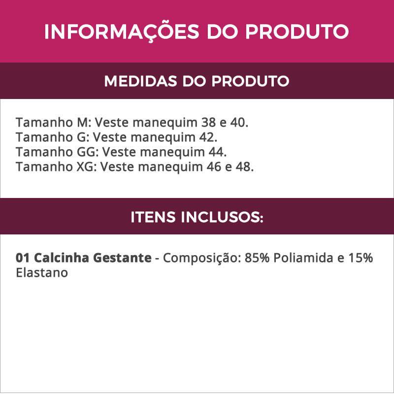 Calcinha Gestante de Microfibra Rosa - ME10052