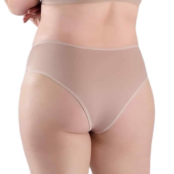 Calcinha Plus Size Bege Nude em Microfibra - PL137