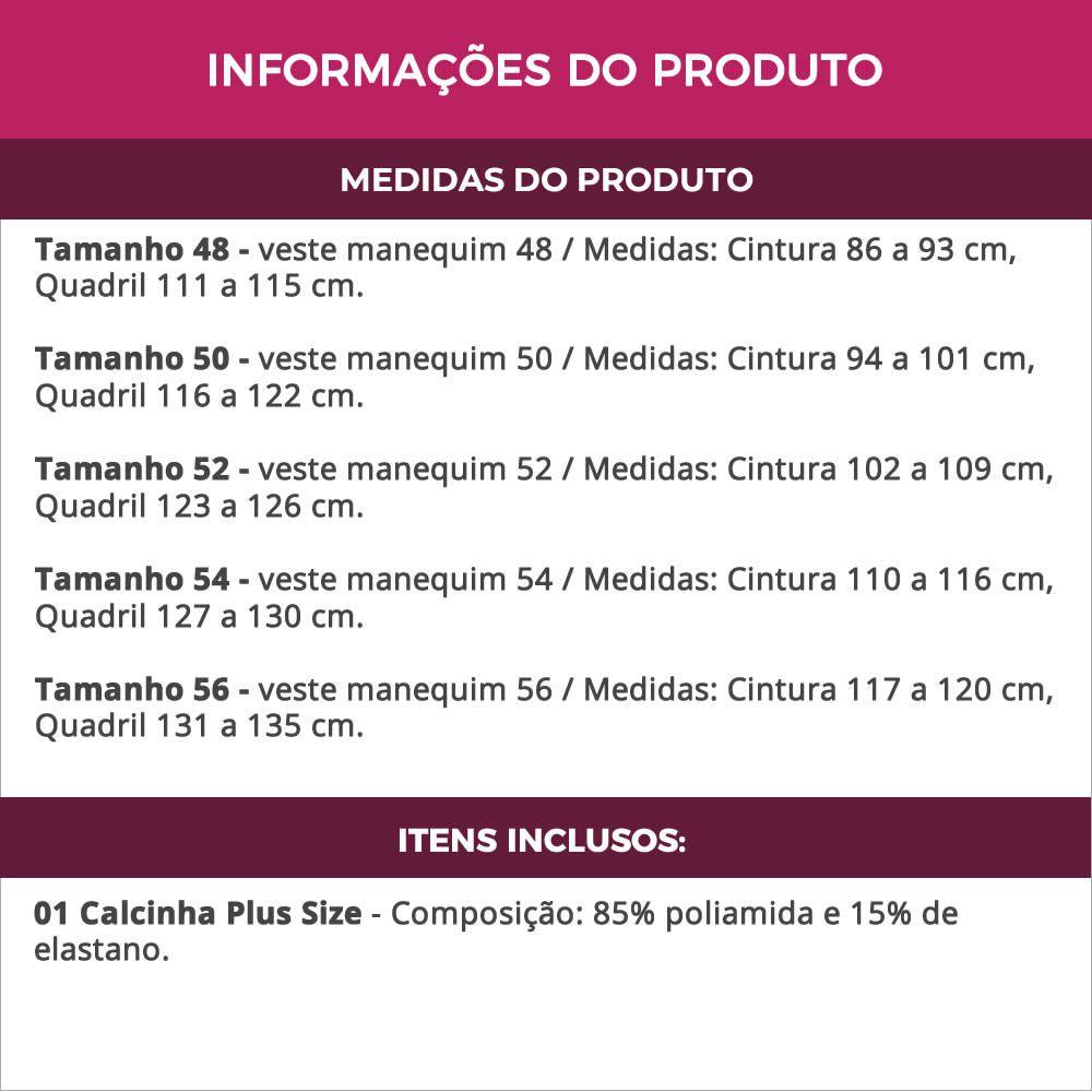 Calcinha Plus Size Preta ou Vermelha em Renda Transparente - PL228-PL227