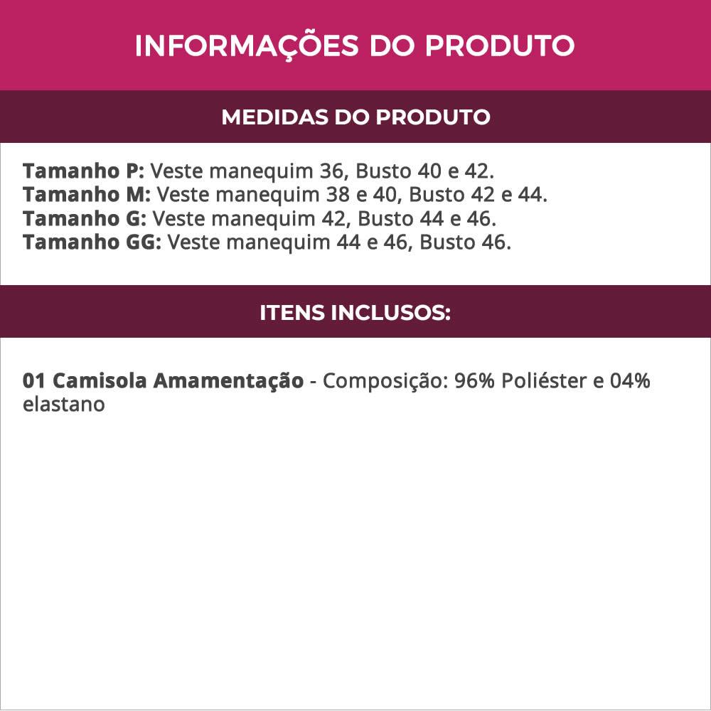 Camisola Amamentação em Liganete Estampada - DR211