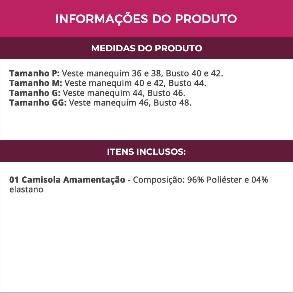 Camisola Amamentação em Viscolycra e Renda - ES220