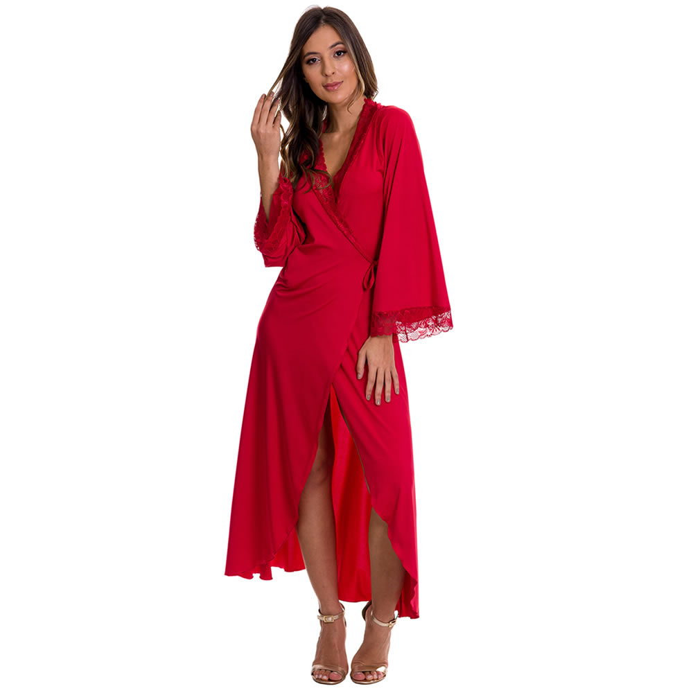 Camisola Amamentação Longa com Robe - ES216-219