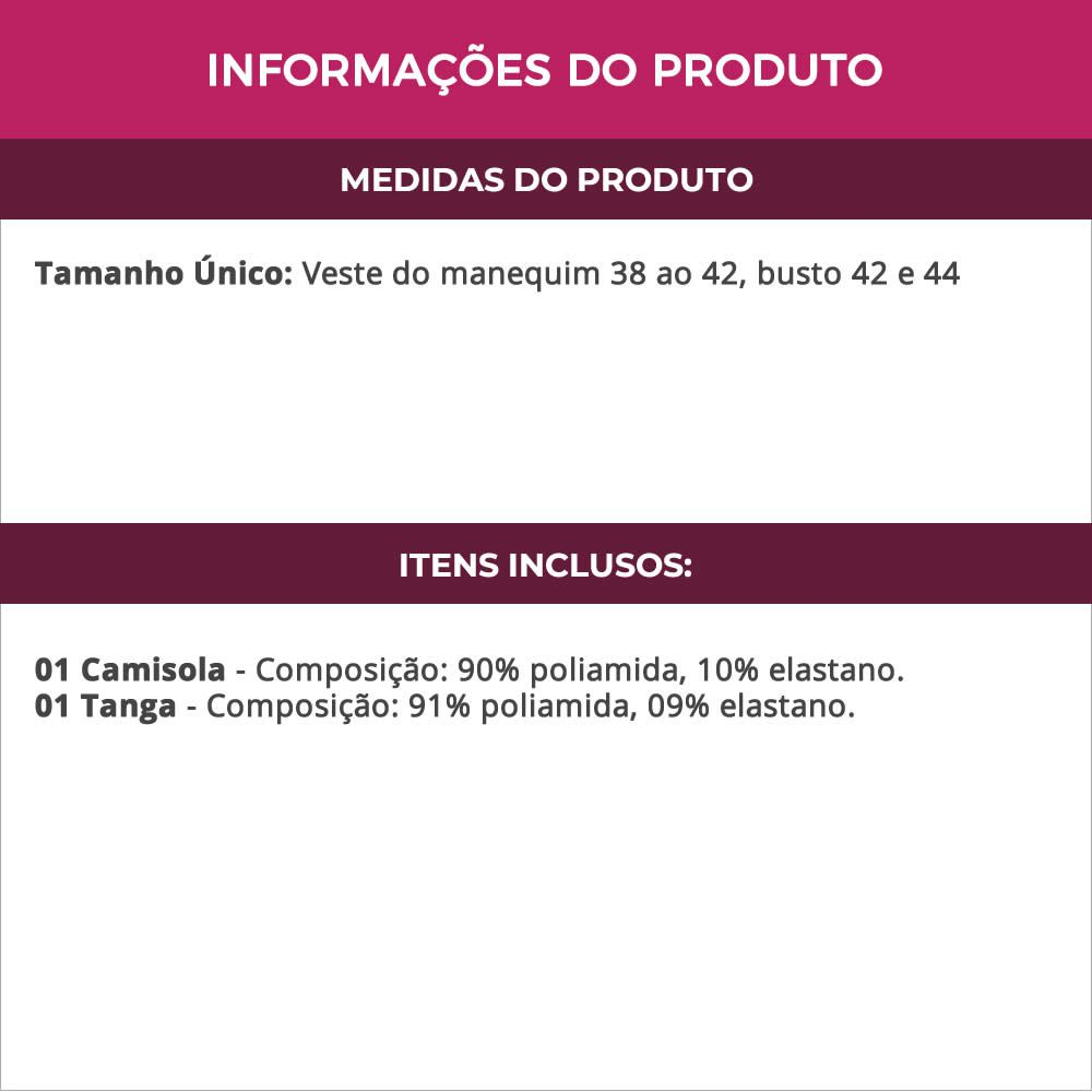Camisola Rosa Transparente em Renda e Tule com Bojo Olivia - MS1419