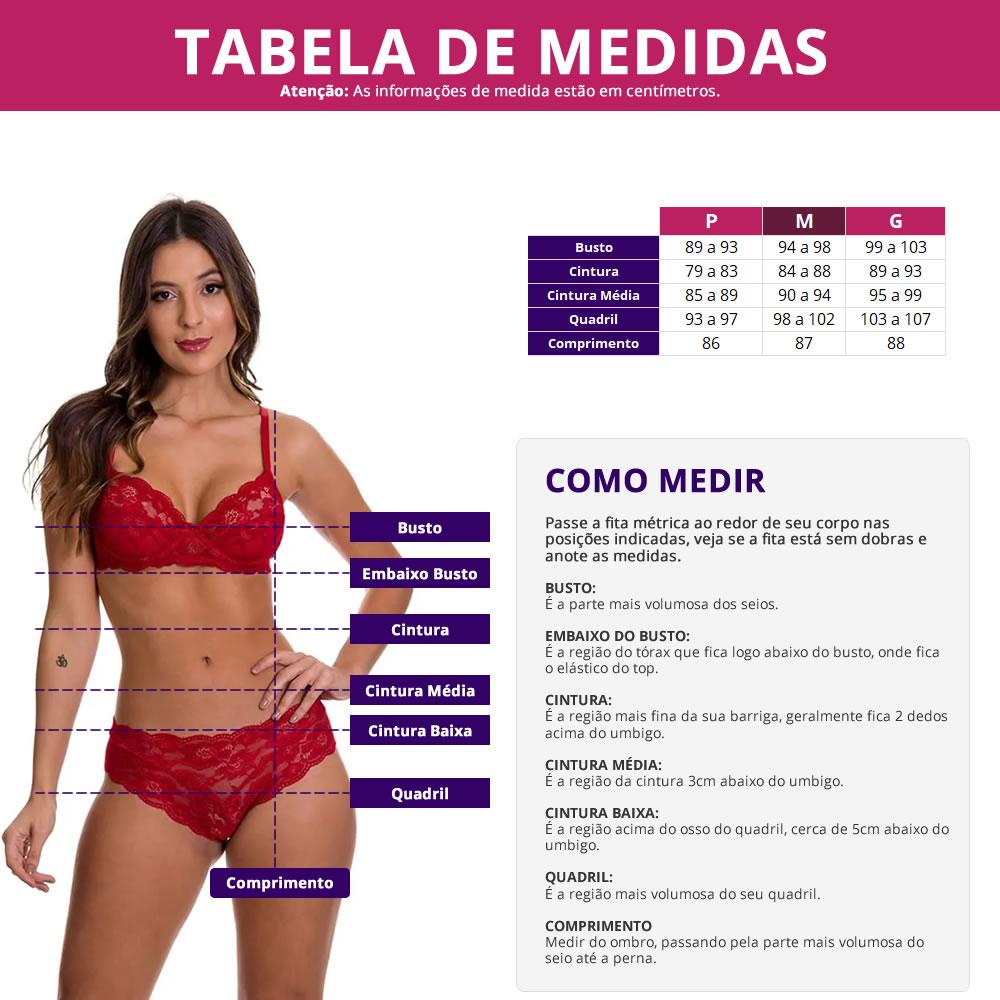 Camisola Transparente em Tule e Renda Jade - ES218