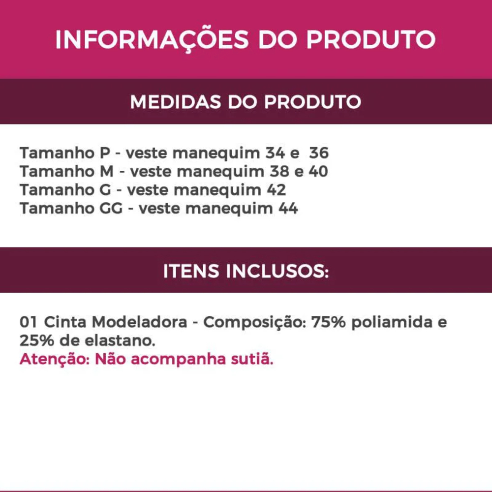 Cinta Abdominal Pós-Cirúrgica - LP30047