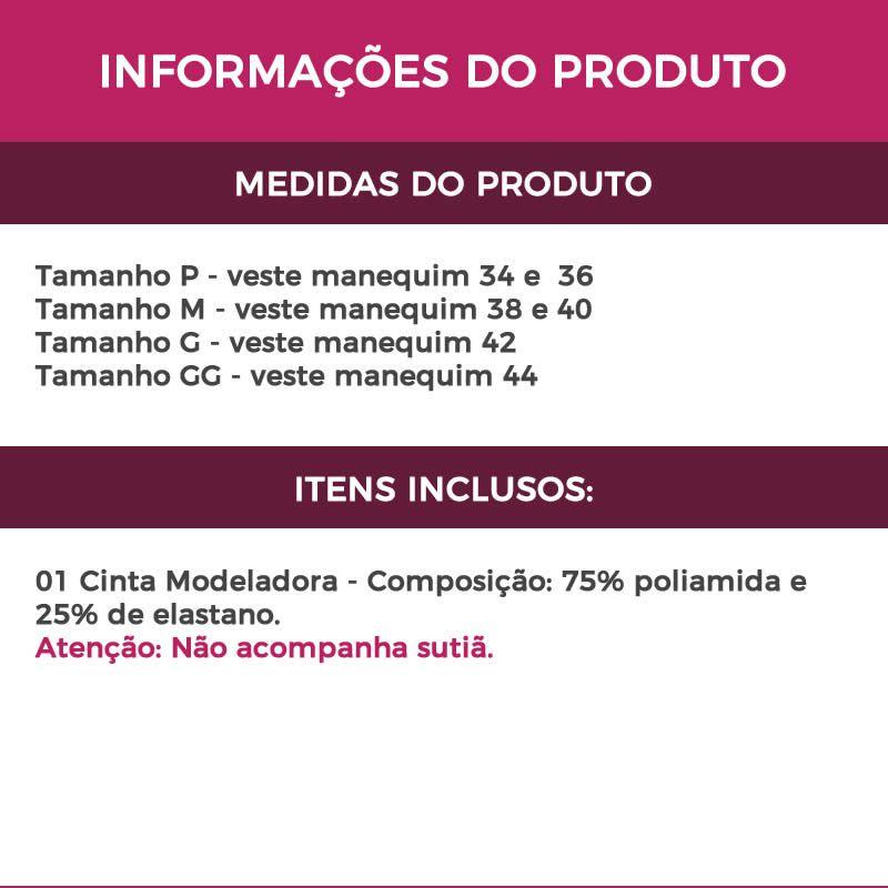 Cinta Modeladora Abdominal Pós-Cirúrgica Pós Parto Bege ou Preta - LP30047