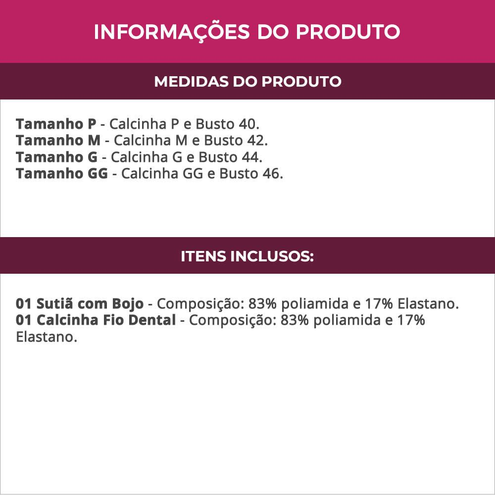 Conjunto de Lingerie Preto em Microfibra e Renda - VC6012