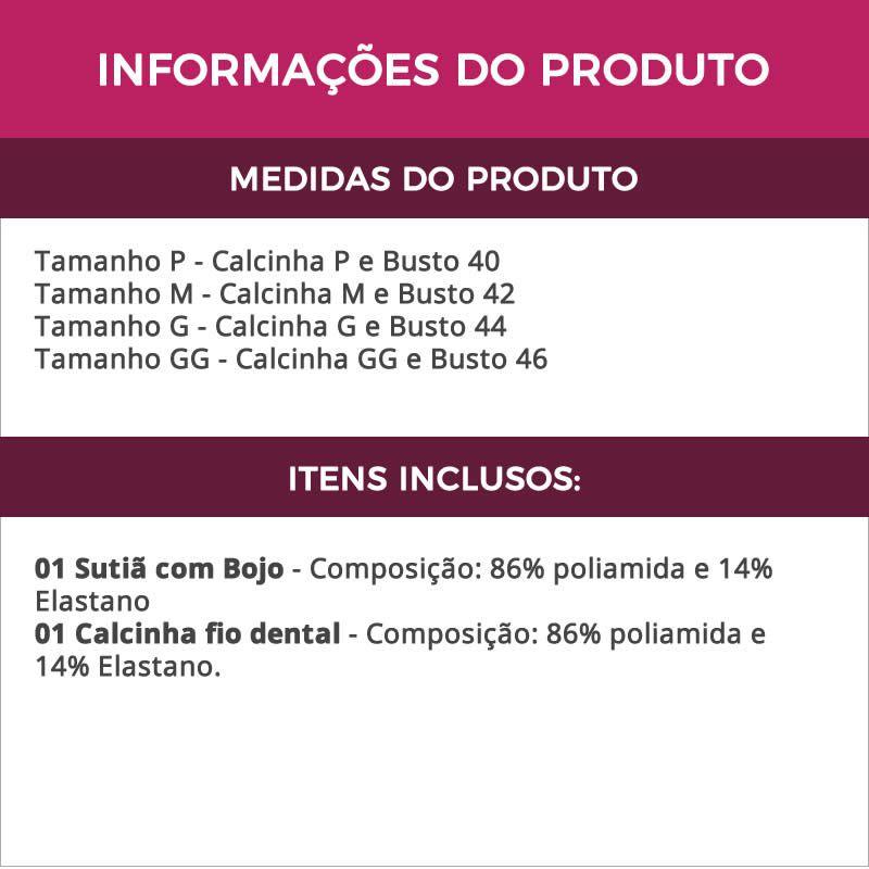 Conjunto de Lingerie Strappy com Bojo e Tiras Preto Vermelho ou Lilás - DR185