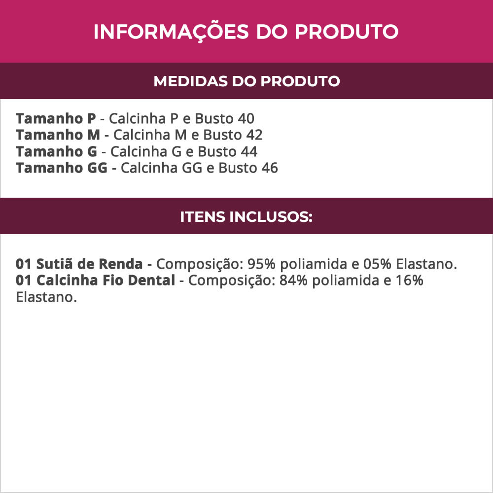 Conjunto de Lingerie Vermelha em Renda Transparente - TV5004
