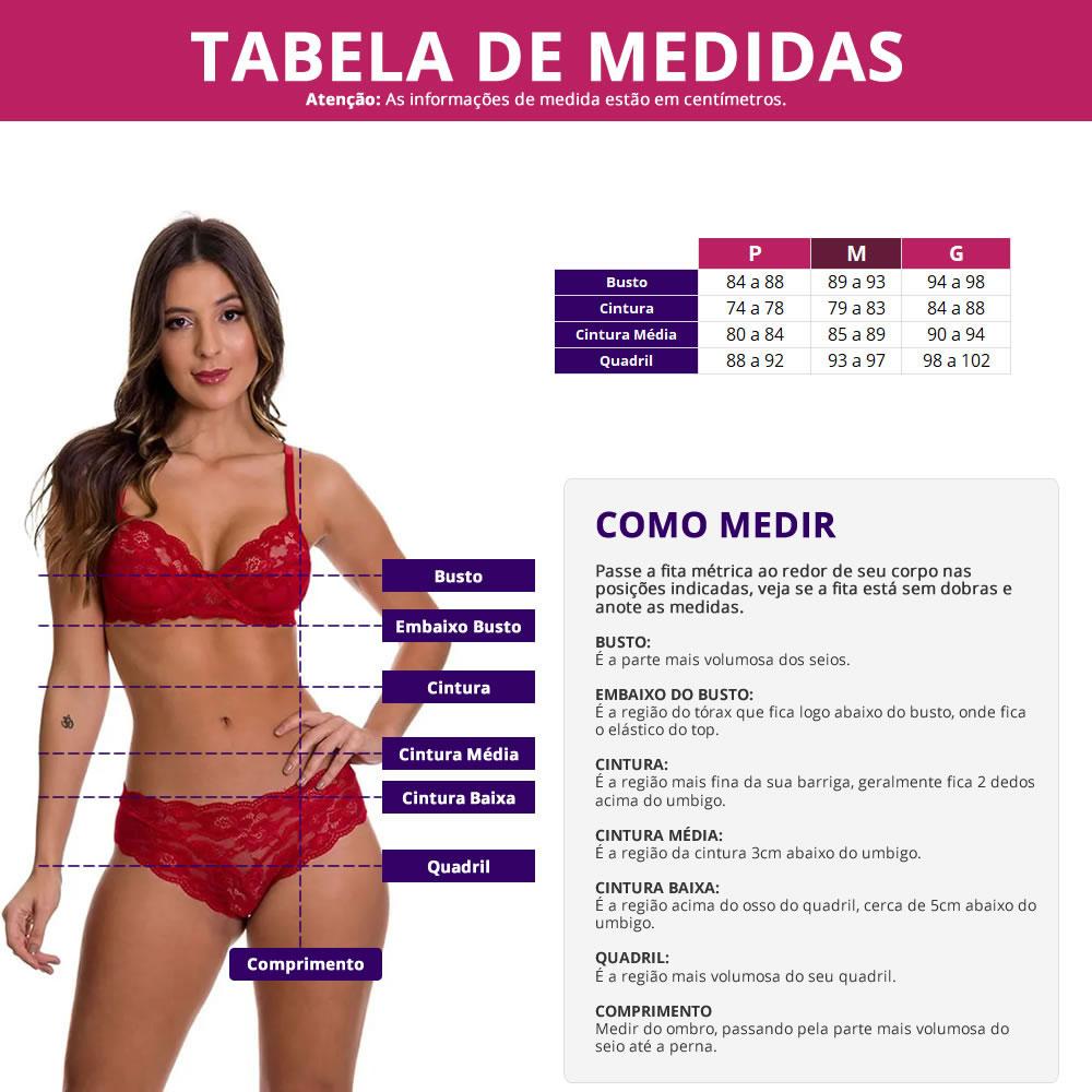 Espartilho Transparente com Calcinha + Meia Arrastão7/8 - EK3021-ES02