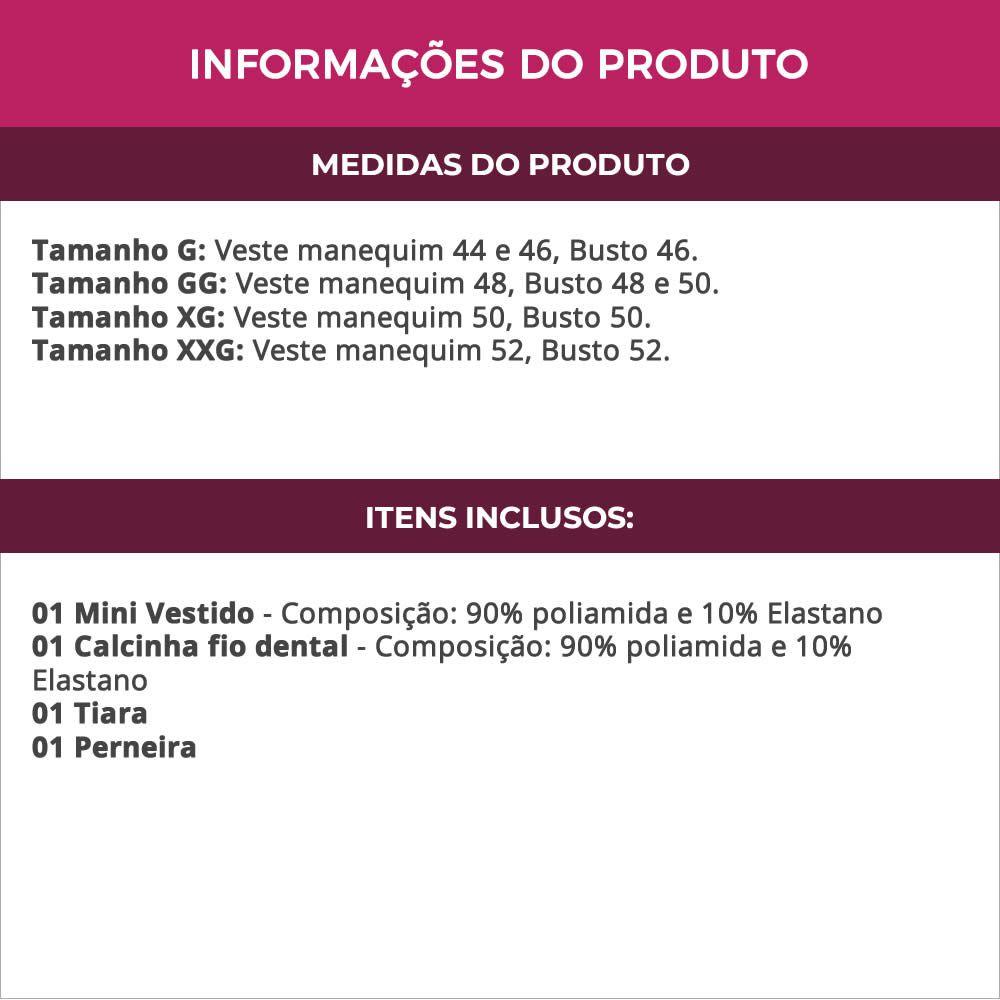 Fantasia Doméstica Plus Size Erótica com Bojo - EK2009-2119