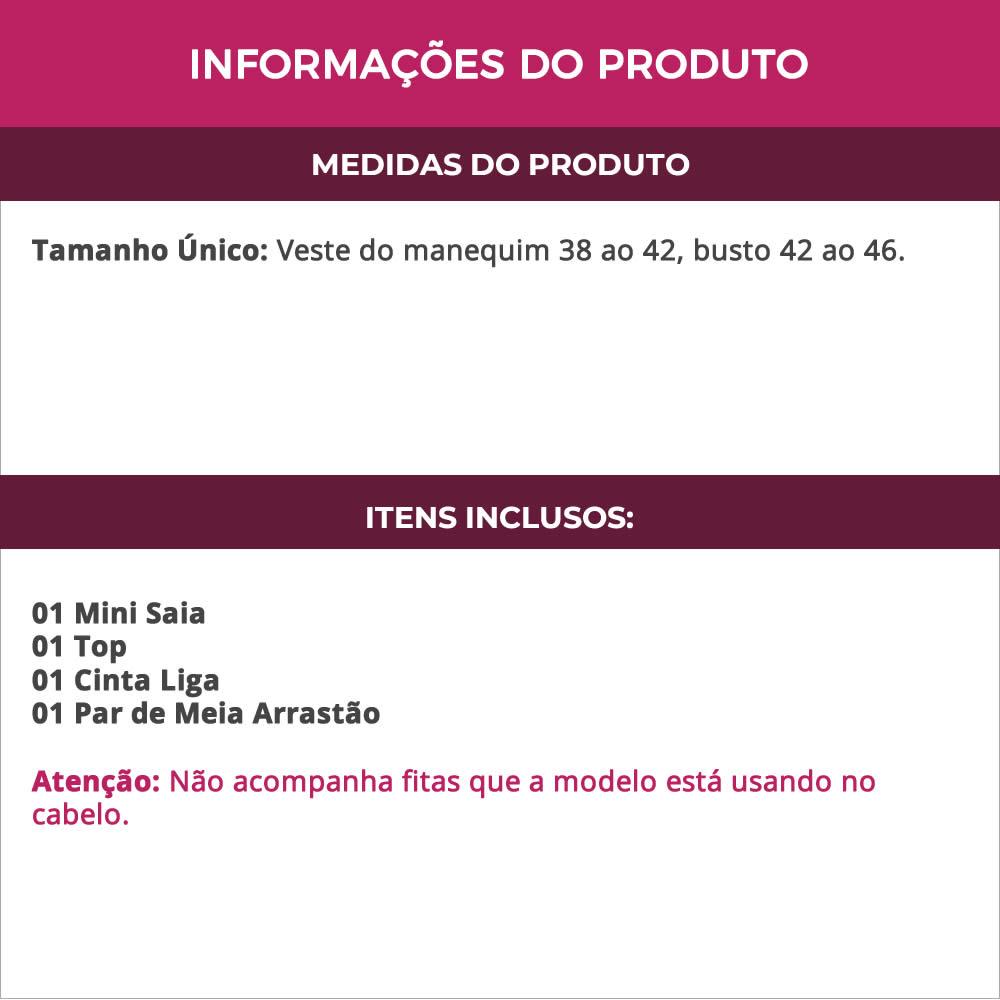 Fantasia Erótica Estudante Colegial + Meia Arrastão - EK2121-ES02