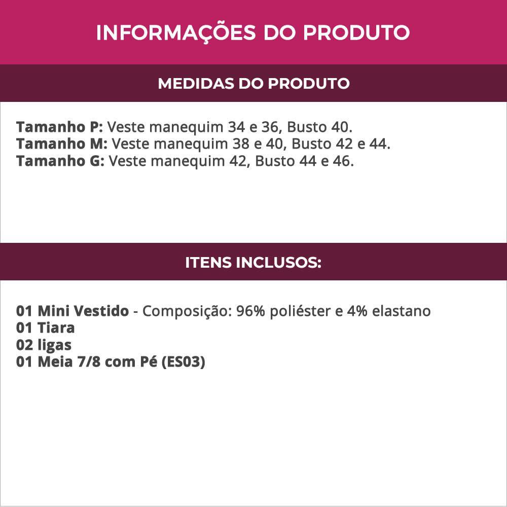 Fantasia Erótica Médica Doutora Enfermeira Vestido Cirrê - EK2015