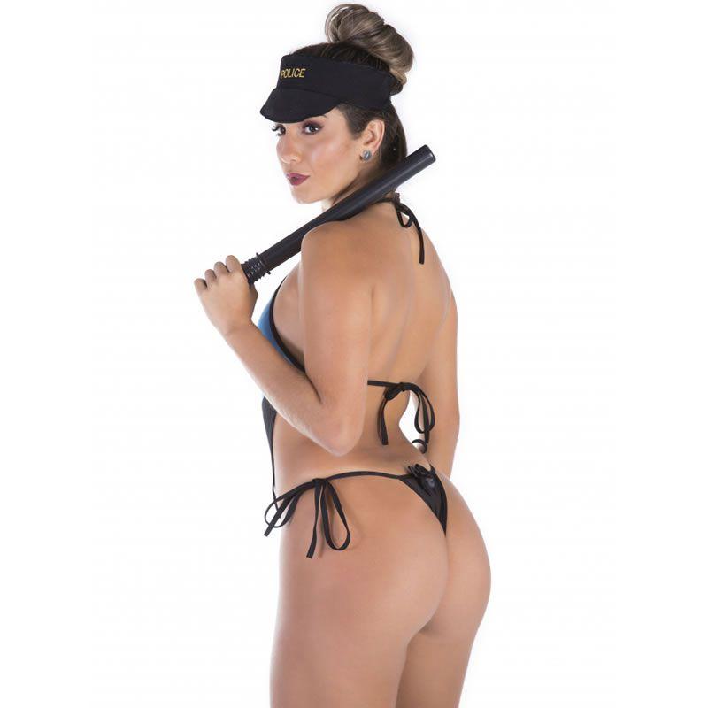 Fantasia Erótica Policial Americana com Cassetete - VT042